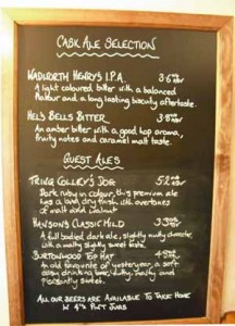 Beer List, Eight Bells Long Crendon