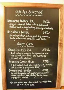 Beer List, Eight Bells Long Crendon