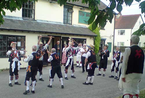 Towersey and Aldbury Morris Outside the Swan, Great Kimble