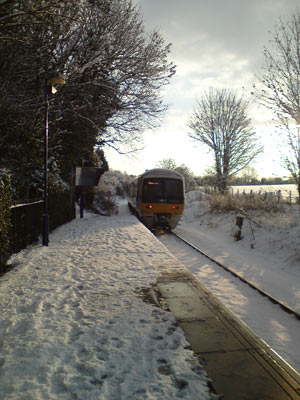 Little Kimble Station in the Snow in January 2010