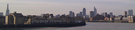 The City from Canary Wharf Pier