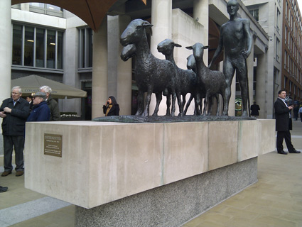 Shepherd and Sheep - Elisabeth Frink - Paternoster Square