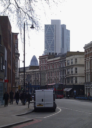 Shoreditch High Street and the City