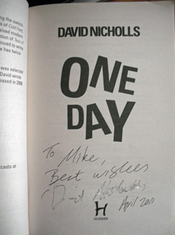 My Signed Copy of One Day