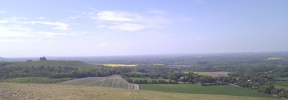 View from Coombe Hill to the South West
