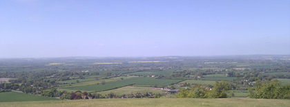 View from Coombe Hill to the West
