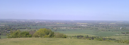 View from Coombe Hill to the North West