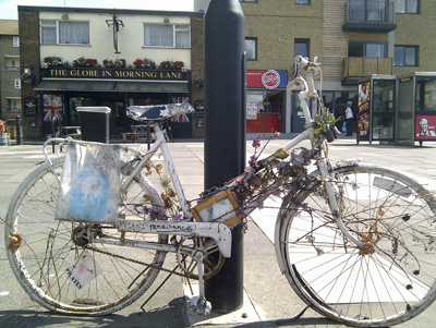 Is it Art or An Old Bike in Hackney?