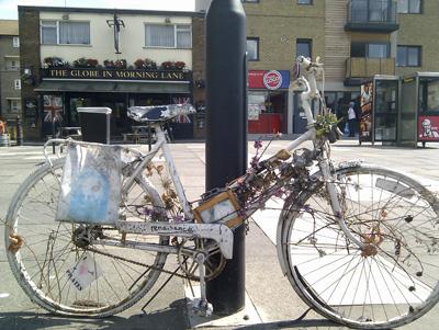 Is it Art or An Old Bike in Hackney?
