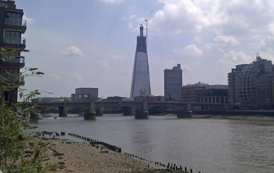 Shard from the North Bank of the Thames 5th July 2011