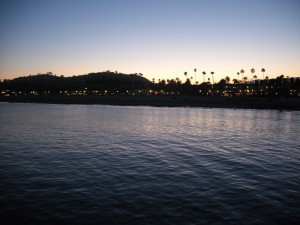 Santa Barbara from Stearn's Wharf at Nightfall