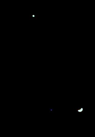 Moon Venus Jupiter Triangle 2