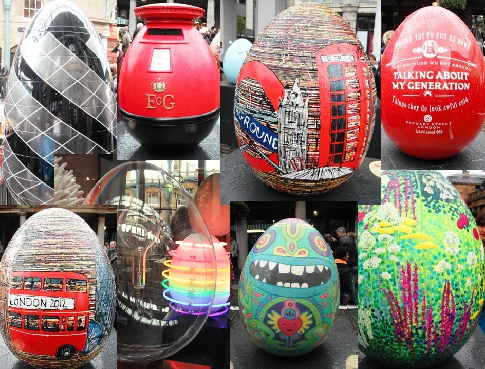 Faberge Easter Eggs at Covent Garden 2012