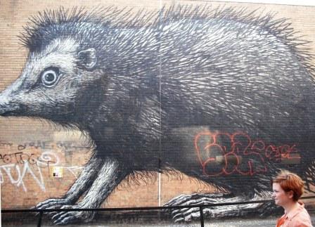Shoreditch Graffiti -- Roa and Sabina Compressed