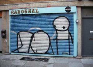 Shoreditch Graffiti -- Two Stiks