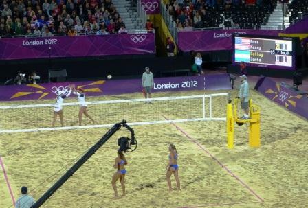London 2012 Argentina v USA Beach Volleyball