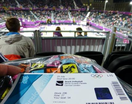 London 2012 Beach Volleyball Ticket