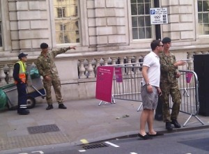 London 2012 Soldiers on Whitehall