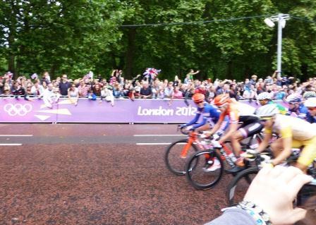 London 2012 Womens Road Race Start