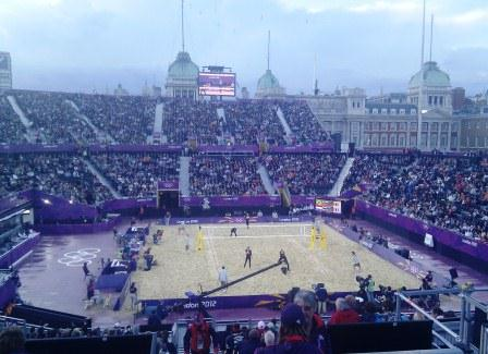 What An Arena -- Beach Volleyball on Horse Guards Parade