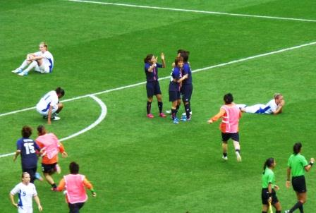 Elation and Despair - Japan Beat France in the Women's Football Semi-Final