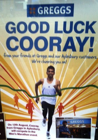 London 2012 Good Luck Cooray