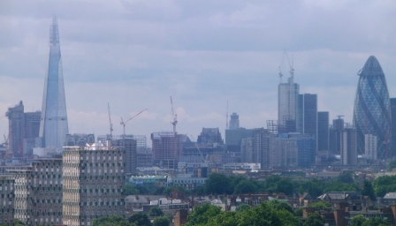 The City and the Shard from the East End