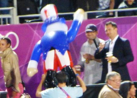 Uncle Sam at the Beach Volleyball