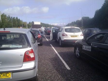 M62 Traffic Jam 080912