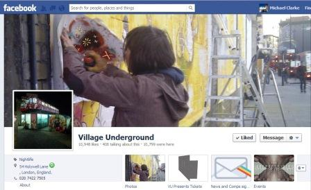 My Street Art Photos on Village Underground's Facebook Cover