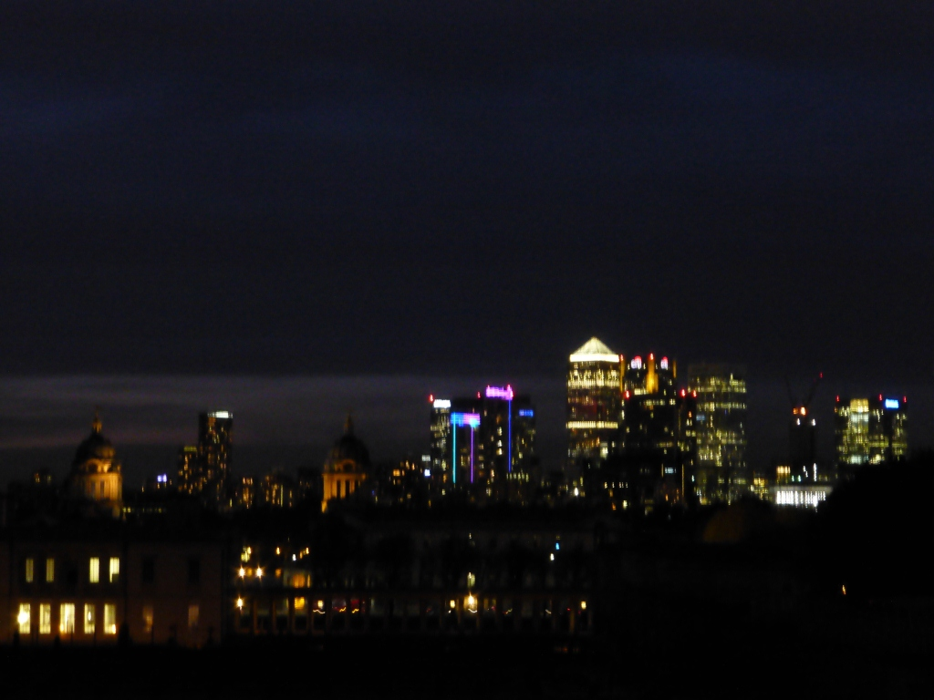 Night Time View from Greenwich Park
