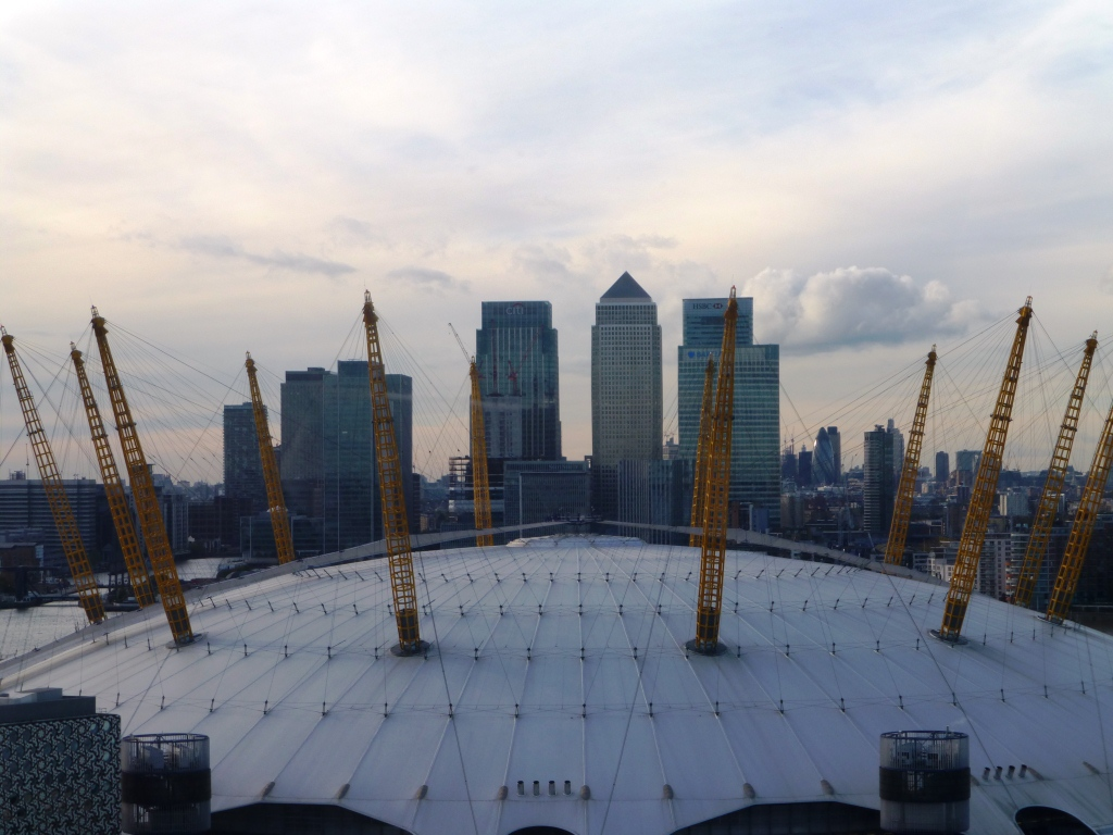 Dome and Canary Wharf