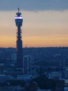 BT Tower at Sunset