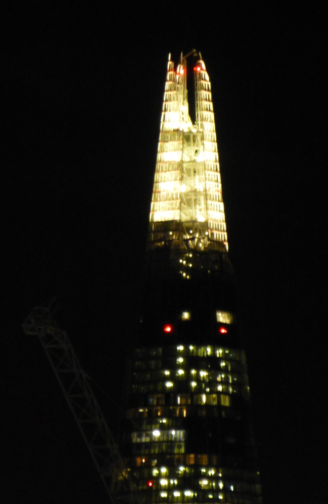 Did That Party Hat Come Out of a Giant Cracker? The Shard 14th December 2012