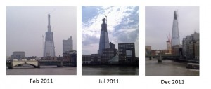 Shard's Construction in 2011