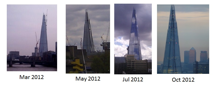 Completion of the Shard in 2012