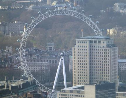 London Eye from the Shard with St. James's Park and Buckingham Palace