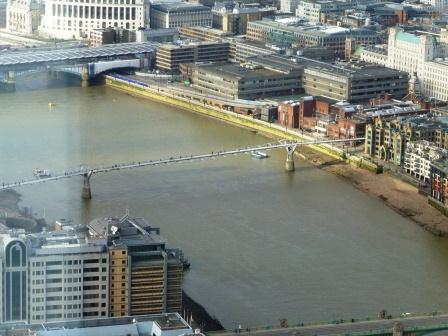 Millennium Bridge from the Shard