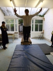 Me Falling at Amy Sharrocks's Studio in Chelsea