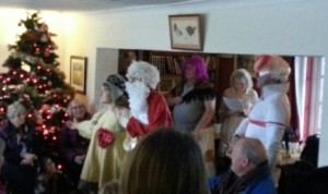 Owlswick Morris with their female Father Christmas and cross-dressing St. George