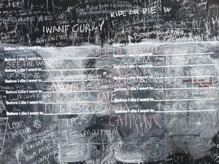 Before I Die Chalkboard, Union Street, SE1