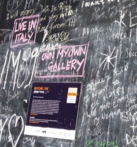 Before I Die -- Gallery and Italy