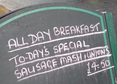 On the Menu -- Sausage Mash and Unions