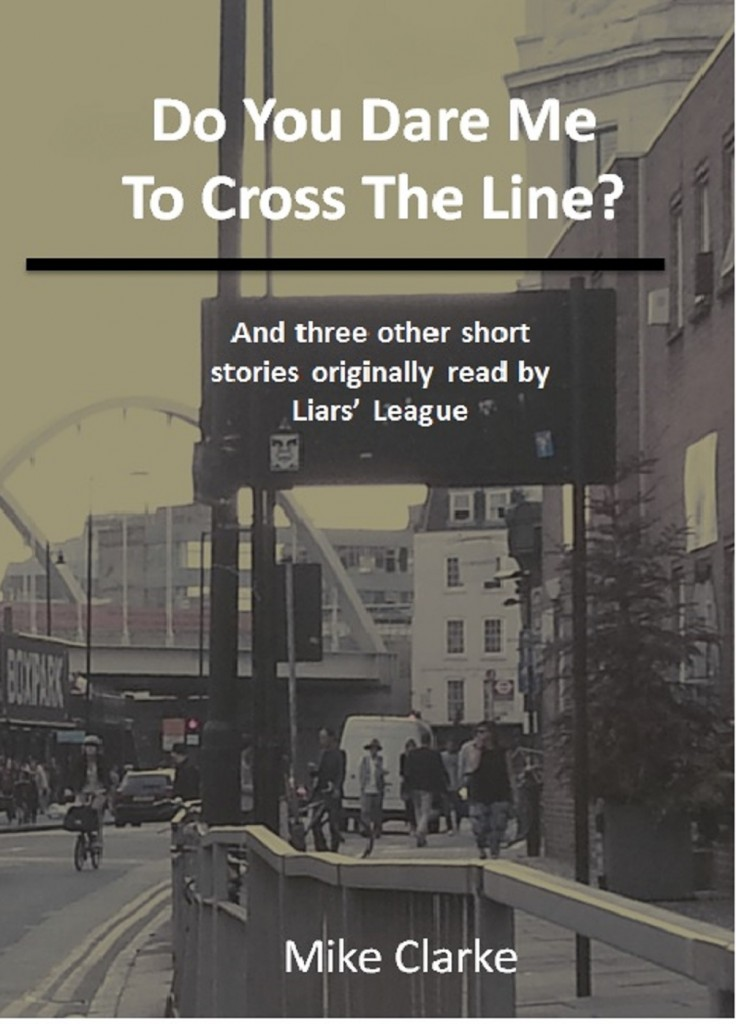 The Cover of my eBook: Do You Dare Me to Cross the Line?