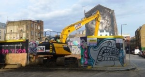 Diggers Arrive in Sclater Street September 2015