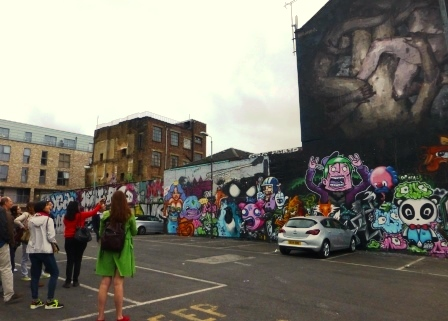 Sclater Street Car Park/Art Gallery May 2014