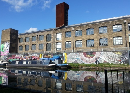 Enjoy the Street (or is it Canal?) Art With Your Pint