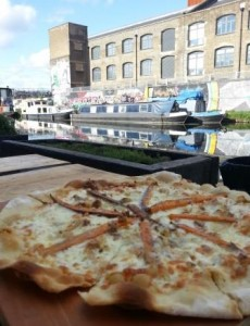 Sweet Potato and Goats Cheese Pizza at Crate Brewery