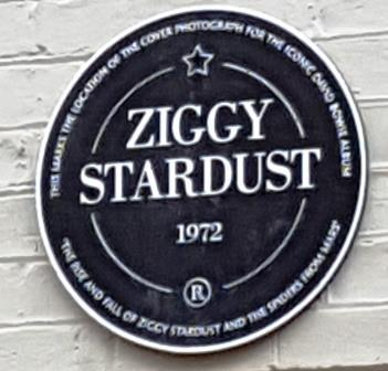 Ziggy Stardust Plaque Heddon Street, Mayfair, 11th January 2016