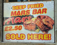 Deep Fried Mars Bar Sold Here